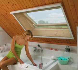 Dachfenster als Rolloausführung